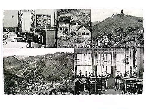 Sauerthal b. Lorch, Gasthaus Pension Burg Sickingen, Mehrbild-AK, ungelaufen, ca. 1935