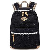 Coofit Mädchen Schulrucksack Damen Canvas Rucksack Schultasche Rucksack Freizeitrucksack Daypacks Backpack für Mädchen Jungen & Kinder