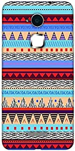 Snoogg Loud Aztec Designer Protective Back Case Cover For Coolpad Note 3 (White, 16GB)