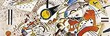 Vassily Kandinsky Poster Reproduction sur Toile, Tendue sur Châssis - sans Titre, 1923 (150 x 50 cm)