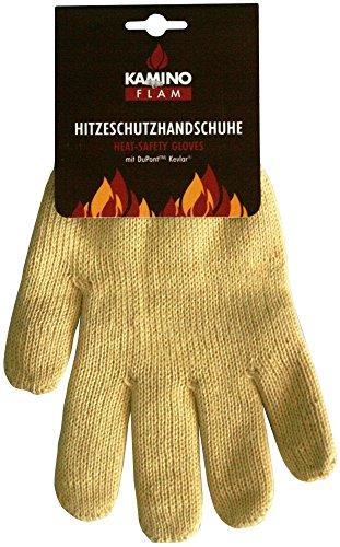 Kamino Flam Ofenhandschuh aus Aramid/Baumwolle, hitzebeständiger Kaminhandschuh mit Strickbund, Hitzeschutzhandschuh für Kamin, Ofen oder Grill, Größe 10