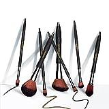 KISSBOBO 7 Stück Professionelle Make Up Pinsel Set für Concealer Foundation Puder Lidschatten Blush Kosmetik Gesicht Pinsel mit Stilvoller Reiseetui