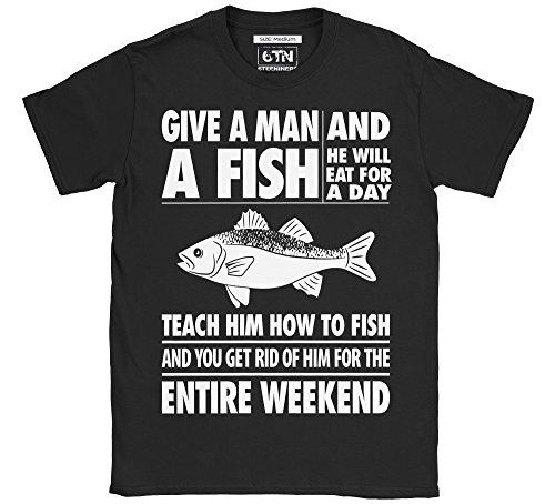 6TN Triple Pack of Mens Fishing/Angling Themed T-Shirts (Medium)