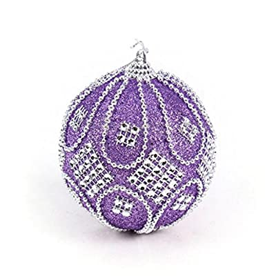 Sixcup Christmas Rhinestone Glitter Baubles Balls Xmas Tree Ornament Decoration 8CM