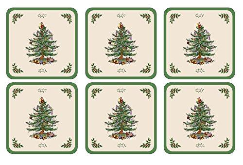 Spode Weihnachtsbaum Weihnachtsbaum, Untersetzer mit harter Unterseite grün Spode China Christmas Tree
