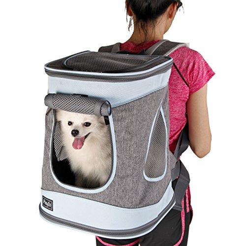 Petsfit Stoff Faltbarer Haustiertragetasche für Hunde und Katzen, Farbe Schwarz, Rucksack, 43cm x 32cm x 29cm