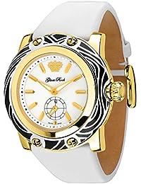 Glam Rock Miami Damen-Armbanduhr 46mm Armband Leder Weiß Schweizer Quarz Analog GR10507