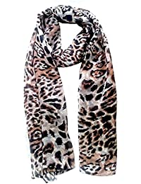 Vanilla Scarf For Girls Georgette Stoles For Women Scarf Hijab Animal Print Combo Ladies Scarf Pin