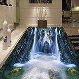Meaosy Wasserfall Natur Landschaft 3D Bodenfliesen Foto Wandbild Tapete Wohnzimmer Pvc Wallpaper 3D Boden Gemälde