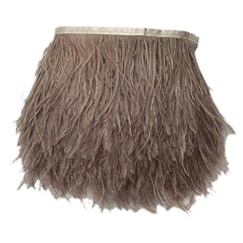 Kolight 5er Pack natürliche gefärbte Straußenfedern, 10-15 cm, Fransen für DIY Kleid, Nähen, Basteln, Kostüme, Dekoration hautfarben