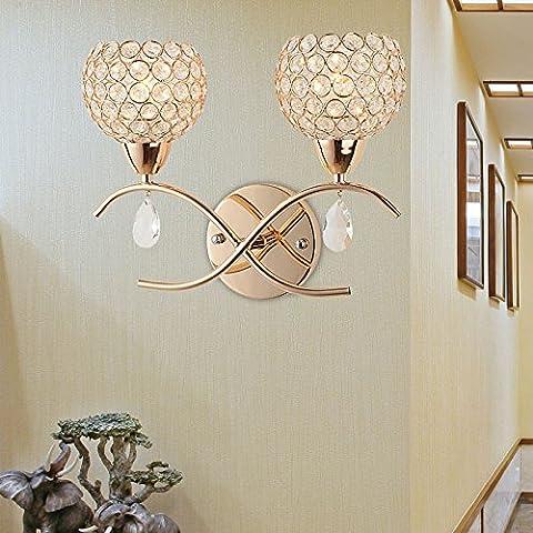 YYHAOGE Lampe, Wandleuchte, Nachttisch, Lampe, Kristall Kunst Lampe, Bett, Schalter, 310* H290 (Mm), (Bad Scheuern)
