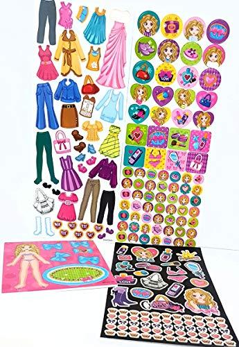 KSS Exklusiv Papierpuppe , Anziehpuppe mit über 160 Sticker