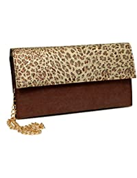 Borse Girls/Women Brown Animal Print Style Leatherette Sling Bag - Gift For Mothers Day