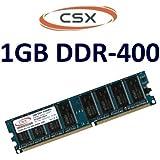 CSX pochette pour mémoire: 1Go 184 broches dDR - 400/400 mHz pC - 3200, cL3 nON eCC, sans tampon pour cartes mères dDR1–100% compatible avec 333 mHz pC 2700 et 266 mHz pC - 2100