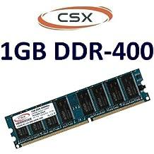 CSx-Memory: 1 GB 184 pin DDR-400 (400 mhz, PC-3200, CL3) no ECC, sin memoria intermedia para DDR1 placas base - 100% compatible con 333 mhz PC-2700 y 266 mhz PC-2100
