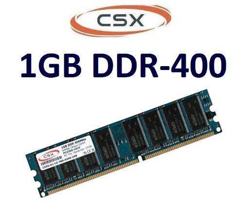 CSX-Memory: 1 GB 184 pin DDR-400 (400Mhz, PC-3200, CL3) NON ECC, unbuffered für DDR1 Mainboards - 100% kompatibel zu 333Mhz PC-2700 und 266Mhz PC-2100