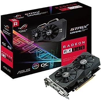 ASUS ROG-STRIX-RX560-O4G - Tarjeta gráfica (AMD, Radeon RX 560, 5120 x 2880 Pixeles, 1336 MHz, 4 GB, GDDR5)