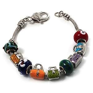 Bracelet Porte-Bonheur Garçon Ton Argent - Longueur 19cm (pour gros poignets)