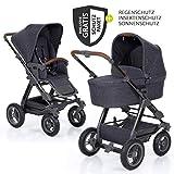 ABC Design Kombi-Kinderwagen Viper 4 mit Lufträdern - inkl. Babywanne, Sportsitz und XXL Zubehörset - Street