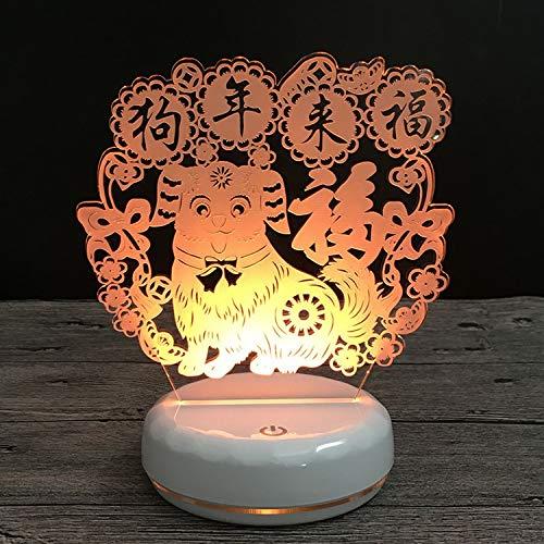 Maskottchen-Geschenk USB buntes Nachtlicht der Neuheit 3D ()