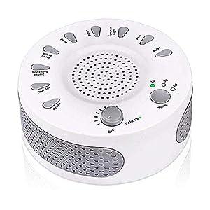 White Noise Sound Machine Tragbare Schlaf Sound Therapie Maschine mit 3 Timern & 9 Natürlichen Sound Optionen für Erwachsene Baby Schlafstörungen Home & Office