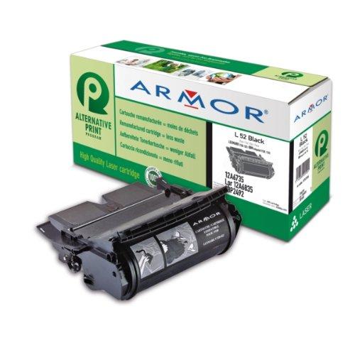 Armor K11924|L52 Tonerkartusche schwarz, 20.000 Seiten/5%, Inhalt VE=1 (ersetzt IBM 28P2492 Lexmark 12A6735 12A6835) für Optra T 520 N SBE/SBE/Rapid 18-3/24-3/T 520 N SBE/SBE/X 522 S kompatibel zu 4520, UDS 130, UDS 132, Optra T 522 S, Optra T 520, Optra T 522, Optra T 520 D, Optra T 520 N, Optra T 520 DN, Optra T 522 N, Optra T 522 DN, X 520, X 522, UDS 130 N, UDS 132 N, Optra T 520 SBE, T 520 SBE, Optra T 520 N SBE, T 520 N SBE, Infoprint 1120, Infoprint 1125, Infoprint 1120 D, Infoprint 1120 - 12a6735 Tonerkartusche