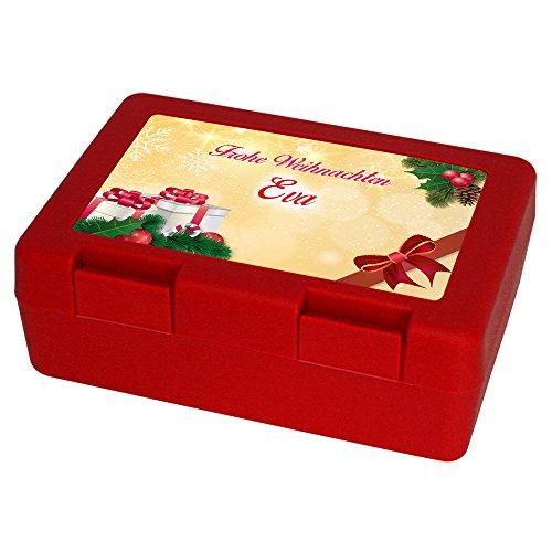 Keksdose zu Weihnachten mit Namen Eva und schönem Motiv 3