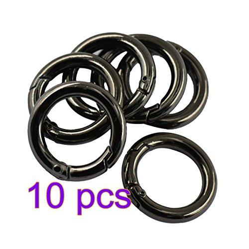 10x runde O-Ring-Karabiner mit Federverschluss, Schlüsselanhänger, Schnalle
