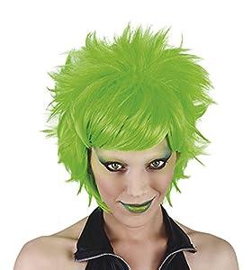 Funny Costumes - Peluca Crazy, adulto, color neón verde, talla única (Rubie