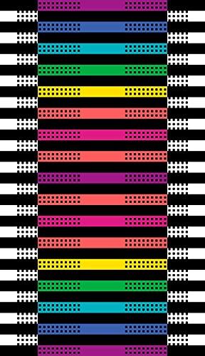 Strandtuch Große Gewebt 100% ägyptischer Baumwolle - freies Verschiffen - Maßnahmen 170x100cm - Verschiedene Farben. Mod. Stair. (Multicolor) (& Hafen Strand Handtuch)