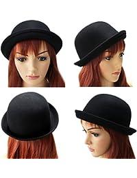 OULII ragazze Roll-up Ala lana cupola cappello bombetta formale accessori  per le donne ( 94dbcb718ecb