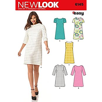 New Look Sewing Pattern 6145 - Misses\' Dress Sizes: 8/18 by New Look ...