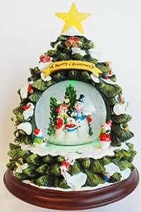 spieluhr mit schneekugel im tannenbaum weihnachten mit licht gr e 25 5 17 16 6900050. Black Bedroom Furniture Sets. Home Design Ideas