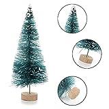 LouisaYork Miniatur-Weihnachtsbaum, Mini-Tischbaum, 34 Stück, Mini-Sisal, Schnee, Frost, Baum, Mikrolandschaft für Weihnachten, Basteln, Tischdekoration - 4