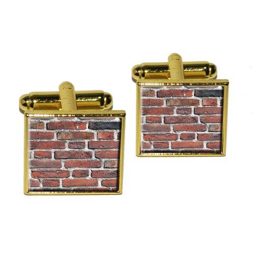Brick Wall–Bricks Mason Mauerwerk Manschettenknöpfe, quadratisch - Wall Brick Graphics