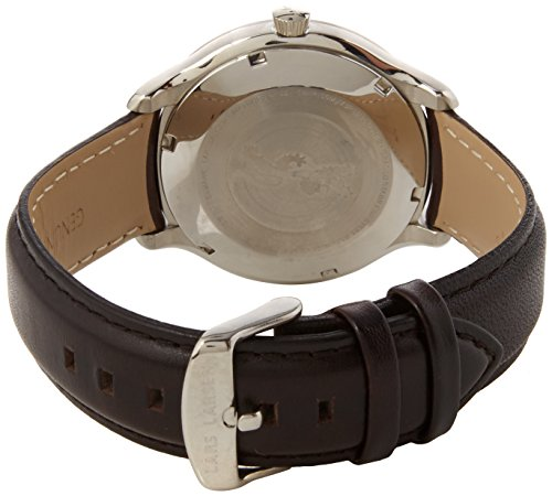 Lars-Larsen-Mens-Quartz-Watch-with-Silver-Dial-Analogue-Display-and-Brown-Leather-Strap-122SBBLL