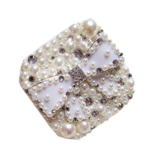 blanc-avec-noeud-et-perles-special-diy-avec-lentilles-de-contact-etui-boite-de