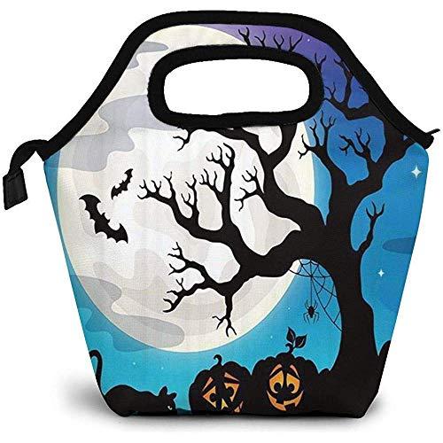 Lunchpaket Halloween-Party-Brotdosen-Brotbeutel-Frauen-Feinschmecker-Beutel Tote Kids Premium Insulated Lunch Box-Handtasche Picknick