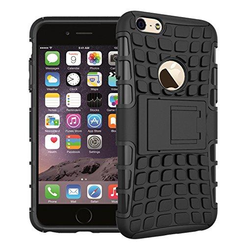 BCIT iPhone 6 6S Cover - Alta qualità Doppio Strato ibrido Cellulari Case Custodia protettivo Per iPhone 6 6S - Porpora Nero