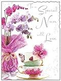 Geburtstagskarte für Omas, Motiv: Blumen, englischsprachiger Text