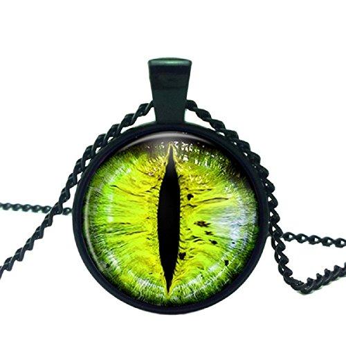 Axibi Mode bunte Katze Auge Glas Kuppel Cabochon Anhänger Halsketten Schmuck (B)
