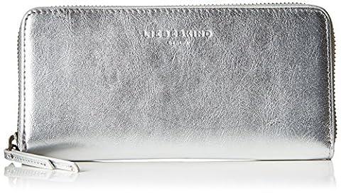 Liebeskind Berlin Damen Sally7v Metall Geldbörse, Silber (Angel Silver), 2x9x19 cm