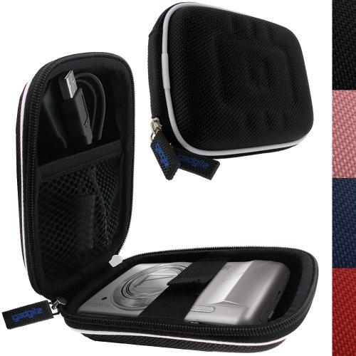 igadgitz U0464 Schwarz  EVA Hart Hülle Tasche Case Cover fürDigitalkameras / Pocket Camcorders - Schwarz
