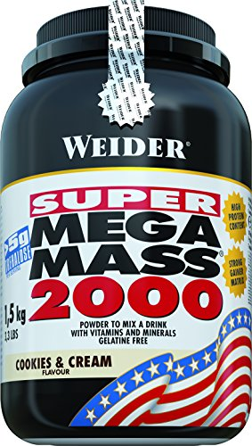 Weider Mega Mass 2000 Cookies & Cream - 1500 gr