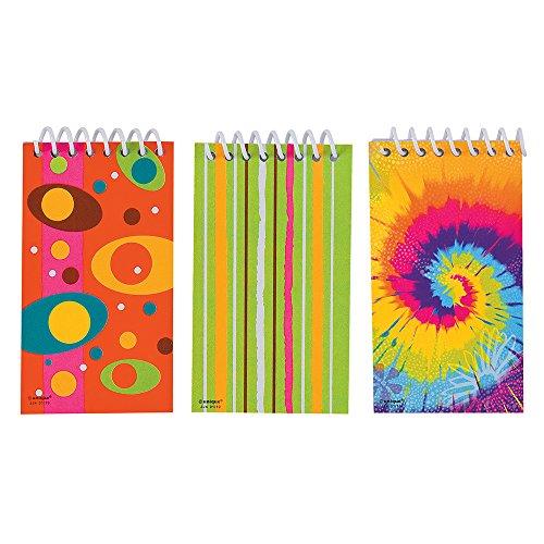 unique-party-86933-paquet-de-12-mini-bloc-notes-a-spirales-pour-pochettes-cadeau