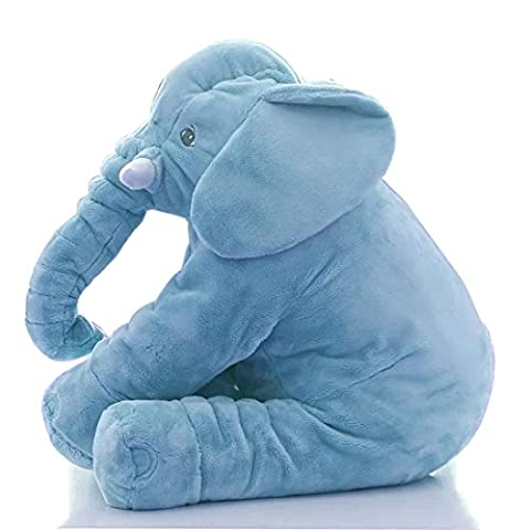 JJOnlineStore - Baby Kids Children Toddler Large Soft Plush Elephant Sleep Cuddly Pillow Comfort Lumbar Cushion Xmas Christmas Toys (Blue)
