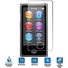iPod nano 7th Generation Cristal Templado,Vikoo 9H 2.5D 0.26m Ultra Delgado Shatterproof Protector de pantalla de Vidrio Templado HD Flim Tempered Glass Screen Protector para iPod nano 7th Generation