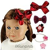 Miunana Accessori Di Capelli Per American Girl Dolls: Cerchio Dei Capelli + Forcine + Forcina A Farfalla (Grande)+ Forcina A Farfalla (Piccola)+ Forcina A Stella