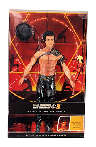 Collector Black Label Dhoom 3 Aamir Khan As Sahir Bollywood Doll (Barbie-frau Kostüm)