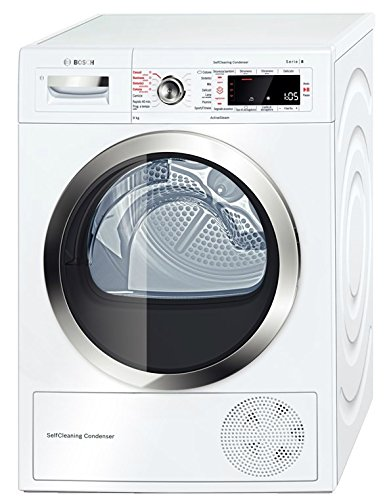 Bosch Serie 8 WTW855R9IT freestanding Front-load 9kg A++ White tumble dryer - tumble dryers (Freestanding, Front-load, Heat pump, White, Rotary, Touch, Right)